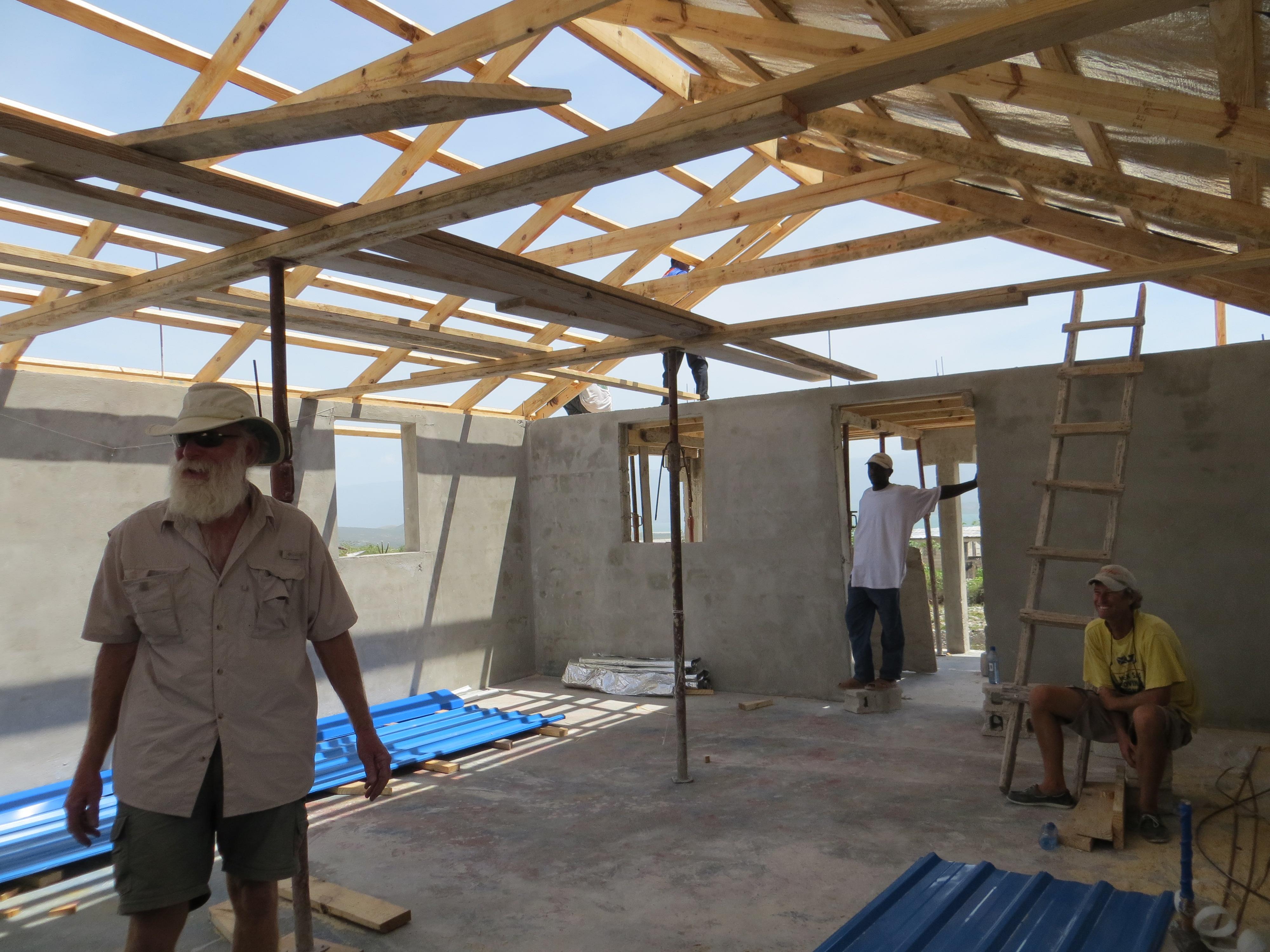 Inside the new base at Fonds-Parisien under construction.