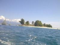 Fishing village on small island.