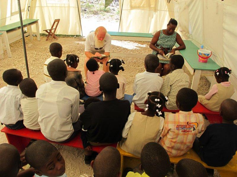 Bill teaching at Sunday morning worship