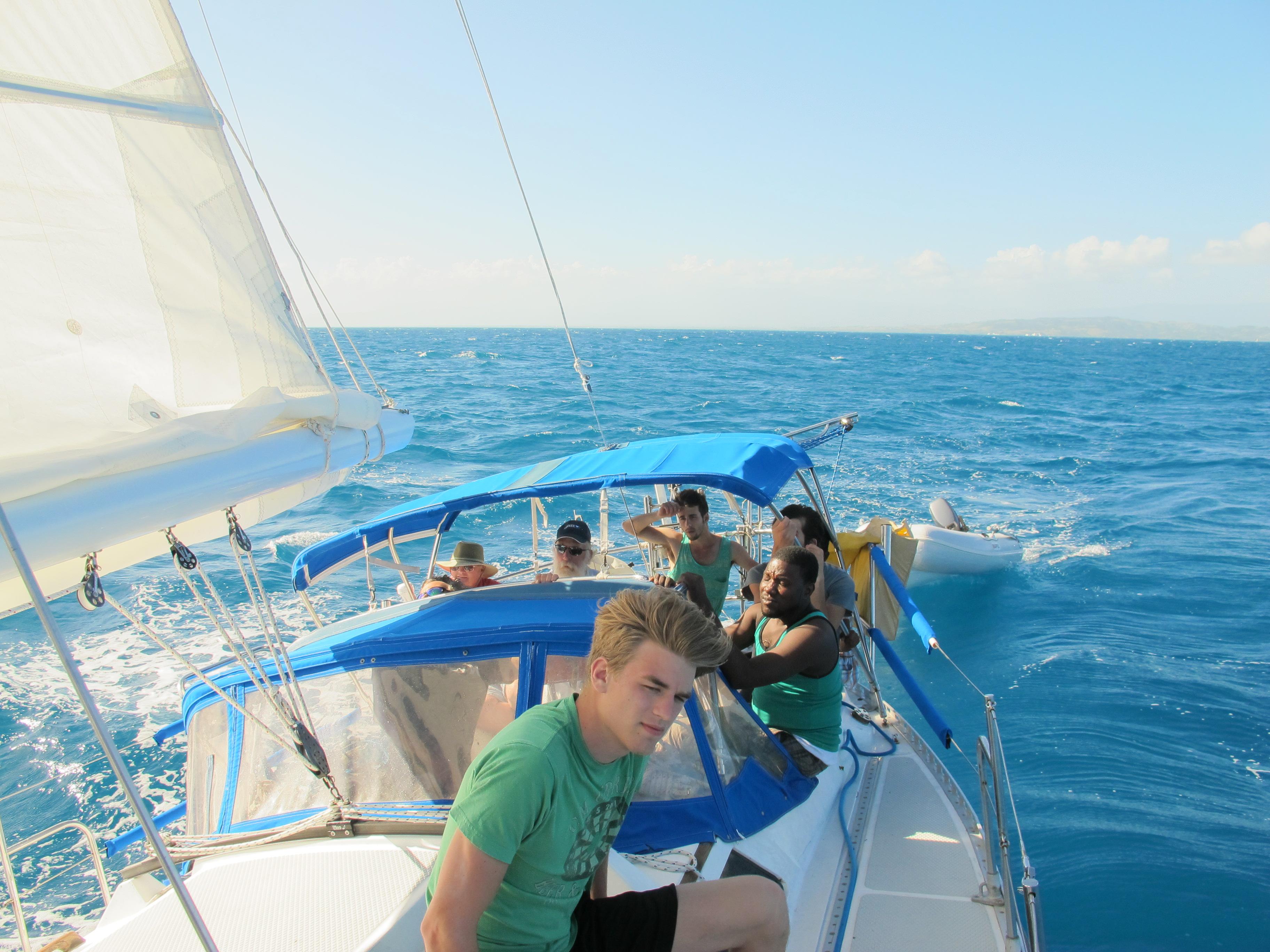 Sailing to a small island off Haiti\'s coast