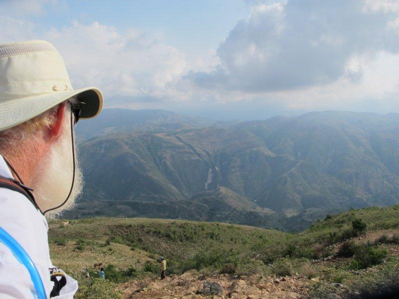 Bill looking over the beauty of Haiti.