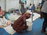 A sick cholera patient